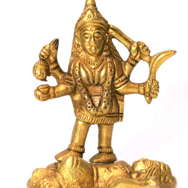Antique finish Brass idol Kali Mata
