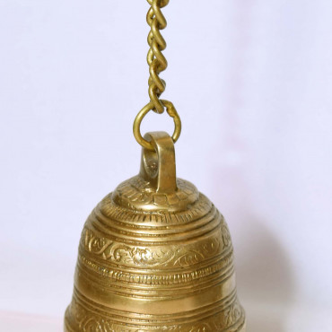 Brass Hanging Bell With Chain