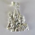 Silver Pendant Shiv Parvati