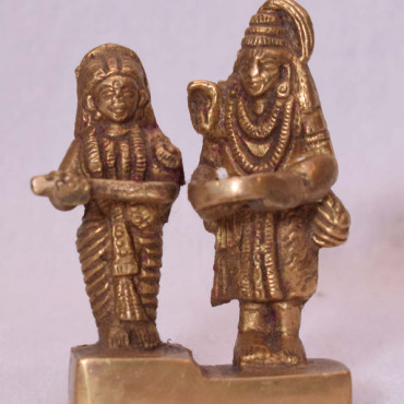 Brass Shiv with Annapurna