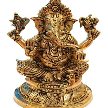 Mangalkari Brass Ganesh Bhagwan