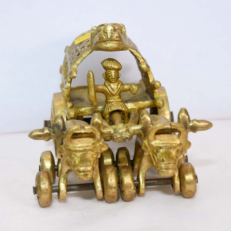 Brass Bullock Cart With Open Frame