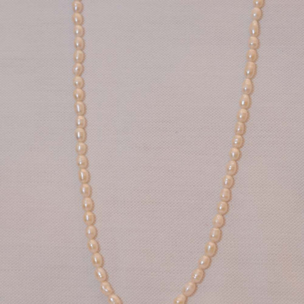 Pearl Mala Small Oval Shape