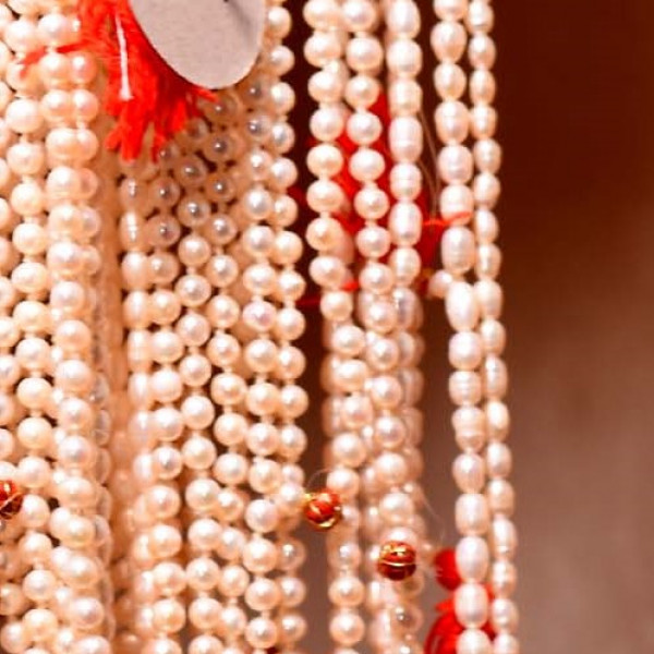 Pearl Mala Big Oval Shape