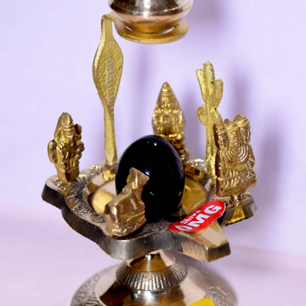 Brass Shivling With Argha