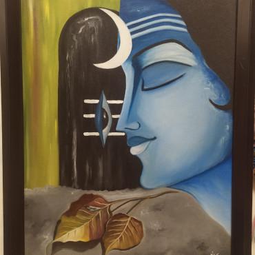 Shiva Canvas & oil Art Painting