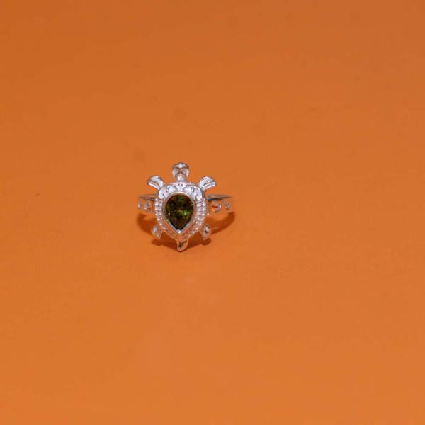 Silver Tortoise Ring