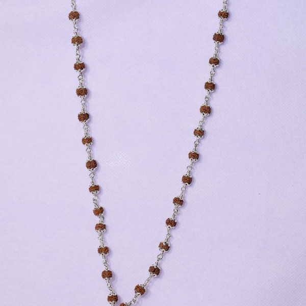Silver Rudraksh Mala With 7 Mukhi Pendent
