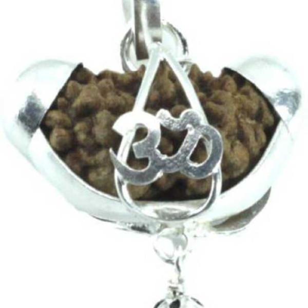 silver pendant 1 mukhi rudraksha