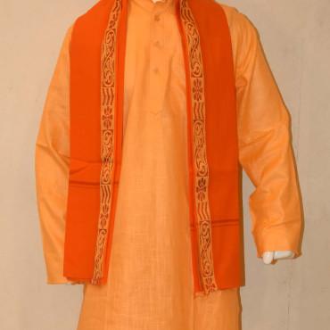 Cotton Kurta pyjama dupatta Orange