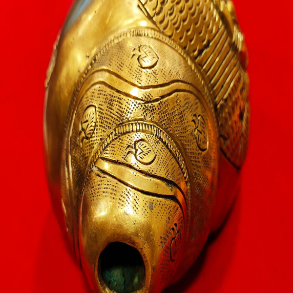 Brass blowing shankh