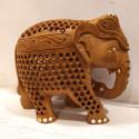 Wooden Undercut Lattice Elephant