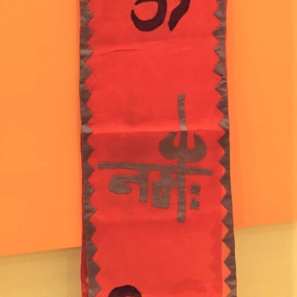 Om Namah Shivay Cotton Red Dupatta