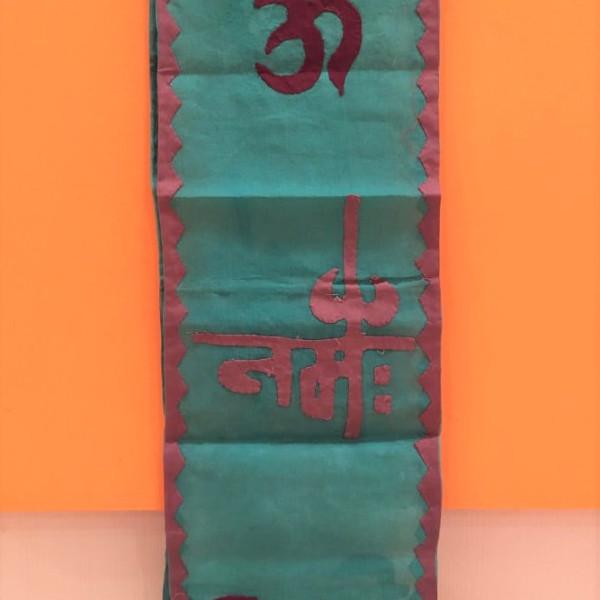 Om Namah Shivay Green Dupatta