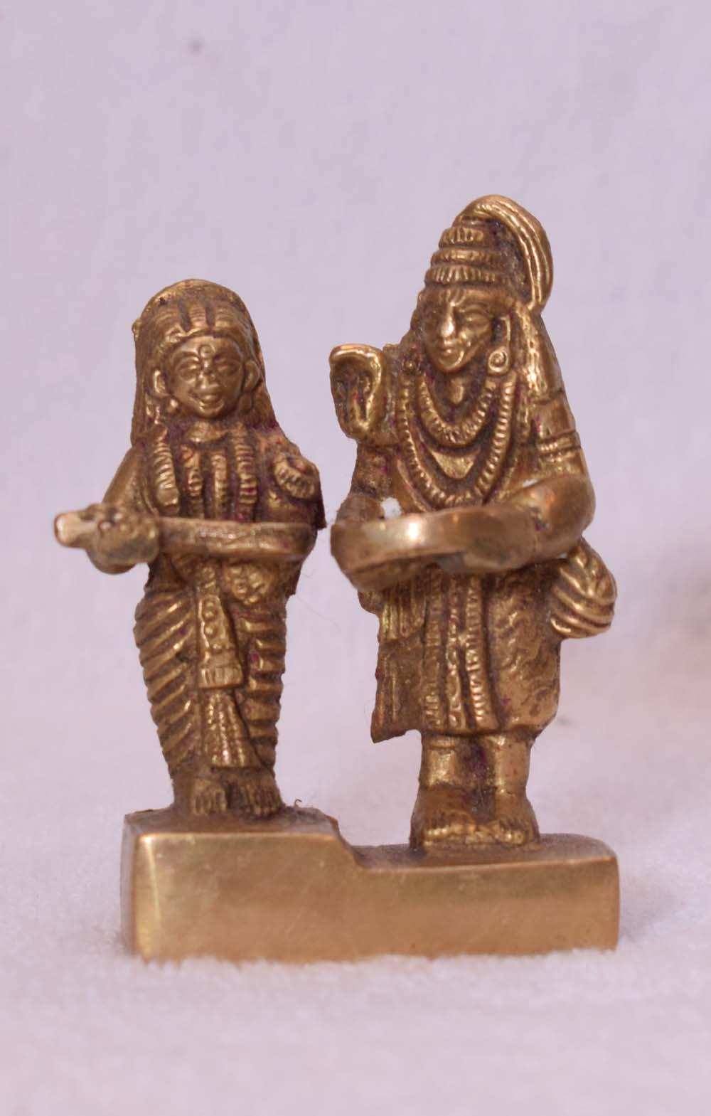 Brass Shiv with Annapurna